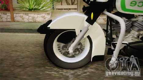 New Police Bike v1 для GTA San Andreas вид сзади