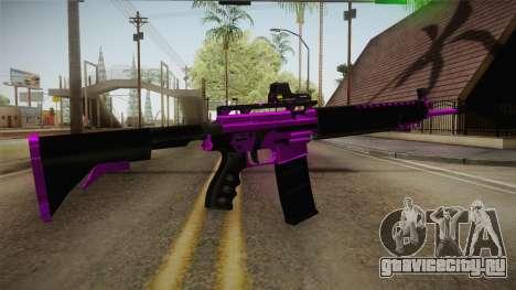 Purple M4A1 для GTA San Andreas третий скриншот