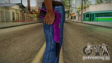 Purple Silenced Pistol для GTA San Andreas