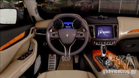 Maserati Levante 2017 для GTA San Andreas вид изнутри