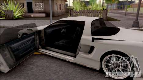 BlueRay Infernus V910 для GTA San Andreas вид изнутри