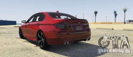 BMW M5 f10 2012 для GTA 5 вид слева