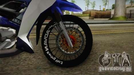 Yamaha 125Z Alloy Black для GTA San Andreas вид изнутри
