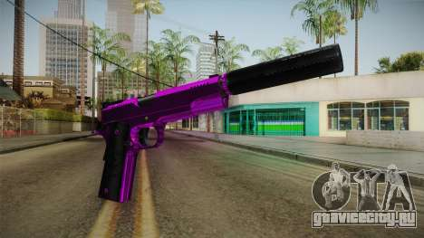 Purple Silenced Pistol для GTA San Andreas