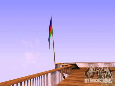 Azerbaijan Flag on Mount Chiliad для GTA San Andreas