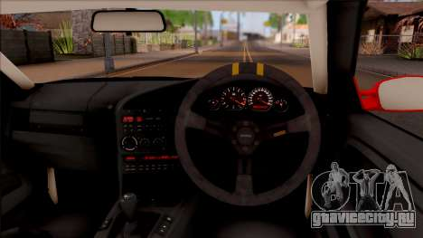BMW M3 E36 Drift Rocket Bunny v3 для GTA San Andreas вид изнутри