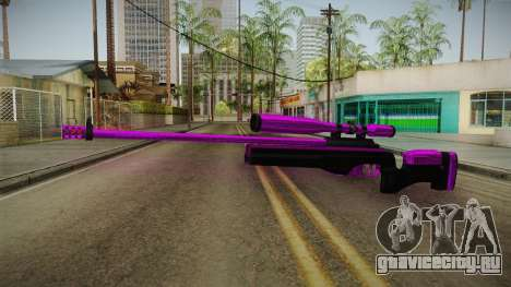 Purple Sniper Rifle для GTA San Andreas