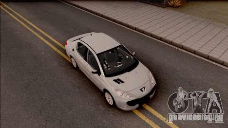 Peugeot 207 Passion для GTA San Andreas вид справа
