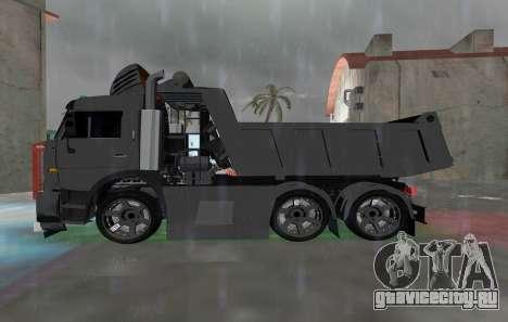 КАМАЗ 65115 BLACK NIGHT для GTA Vice City вид слева