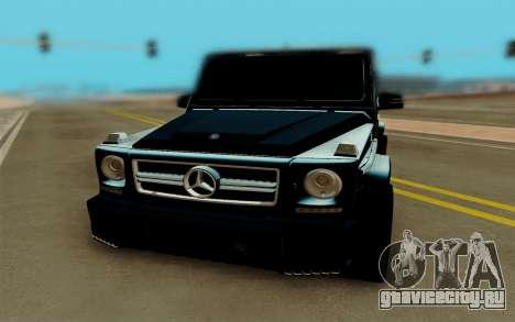 Mercedes-Benz G63 Brabus для GTA San Andreas вид справа
