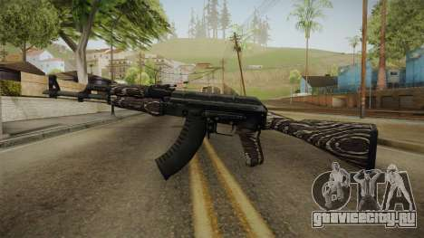 CS: GO AK-47 Black Laminate Skin для GTA San Andreas второй скриншот