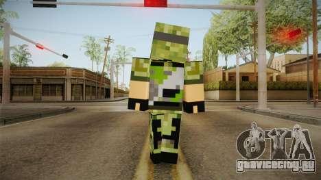 Minecraft Swat Skin для GTA San Andreas третий скриншот