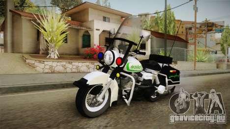 New Police Bike v1 для GTA San Andreas вид справа