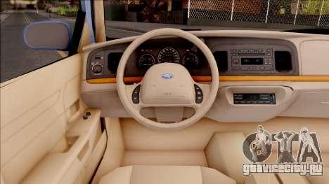 Ford Crown Victoria 2003 для GTA San Andreas вид изнутри