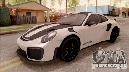 Porsche 911 GT2 RS Weissach Package SA Plate для GTA San Andreas