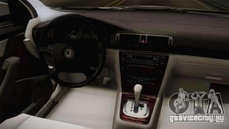 Skoda Octavia Police для GTA San Andreas вид изнутри