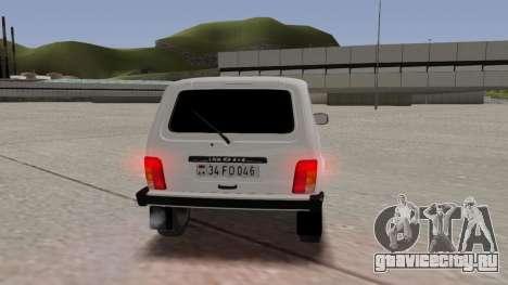 Niva Dorjar 34 FD 046 для GTA San Andreas вид изнутри