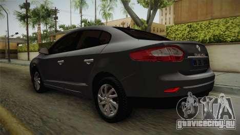 Renault Fluence Icon для GTA San Andreas вид справа
