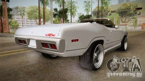 Plymouth GTX Cabrio 1972 для GTA San Andreas вид слева