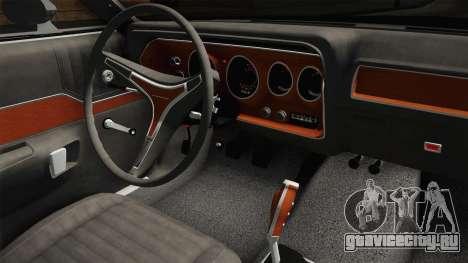 Plymouth GTX Police LVPD 1972 для GTA San Andreas вид изнутри