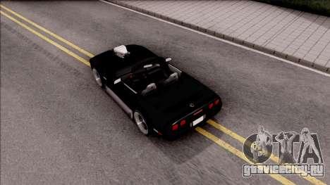 Chevrolet Corvette C4 1996 Cabrio для GTA San Andreas вид сзади
