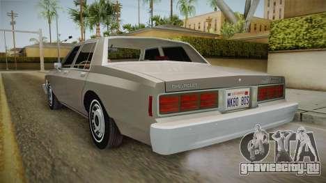 Chevrolet Caprice 1986 для GTA San Andreas вид справа