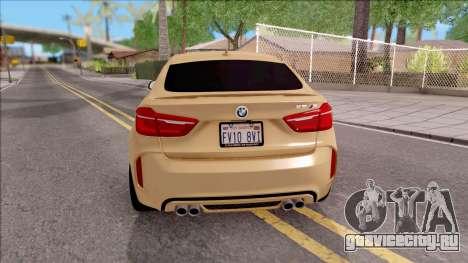 BMW X6M F86 2016 SA Plate для GTA San Andreas