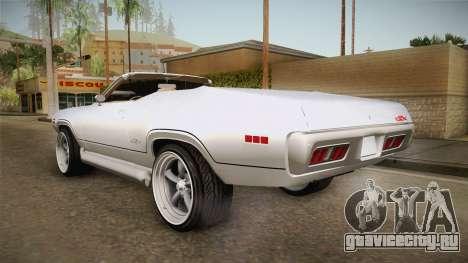 Plymouth GTX Cabrio 1972 для GTA San Andreas вид справа
