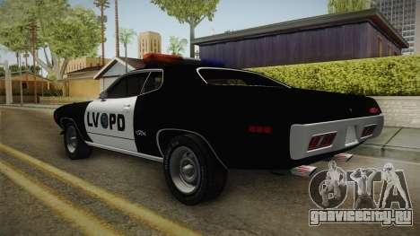 Plymouth GTX Police LVPD 1972 для GTA San Andreas вид слева