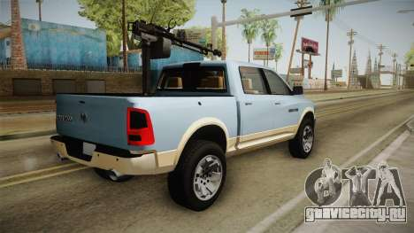 Dodge Ram Technical для GTA San Andreas вид слева