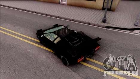 Lamborghini Countach 1988 для GTA San Andreas вид сзади
