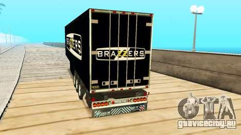 Прицеп Brazzers для GTA San Andreas вид слева