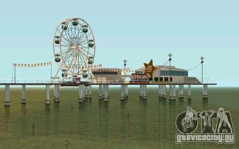 На пляжах люди плавают в воде для GTA San Andreas третий скриншот