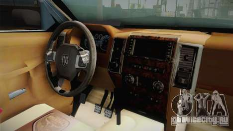 Dodge Ram Technical для GTA San Andreas вид изнутри