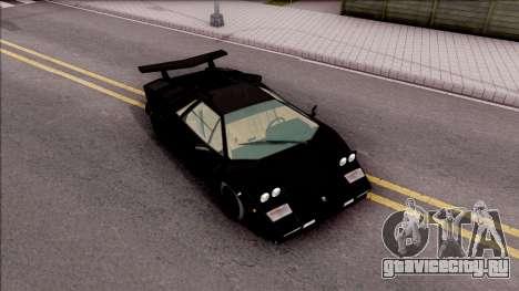 Lamborghini Countach 1988 для GTA San Andreas вид справа