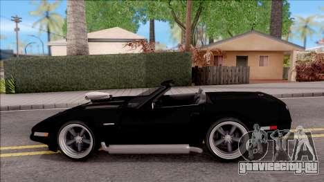 Chevrolet Corvette C4 1996 Cabrio для GTA San Andreas вид слева