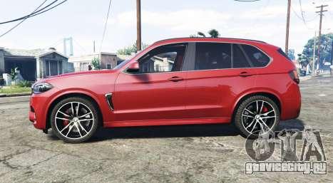 BMW X5 M (F85) 2016 [add-on] для GTA 5 вид слева