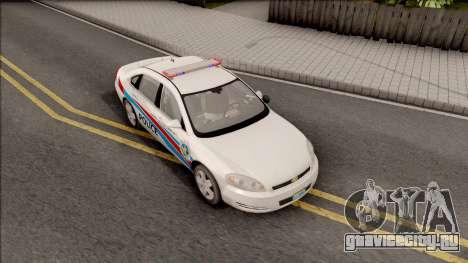 Chevrolet Impala Las Venturas Police Department для GTA San Andreas вид справа