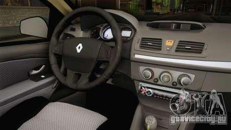Renault Fluence Joy для GTA San Andreas вид сзади