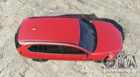 BMW X5 M (F85) 2016 [add-on] для GTA 5 вид сзади