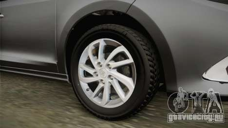 Renault Fluence Icon для GTA San Andreas вид сзади