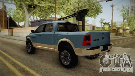 Dodge Ram Technical для GTA San Andreas вид справа