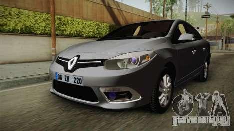 Renault Fluence Icon для GTA San Andreas вид сзади слева
