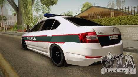 Skoda Octavia Police для GTA San Andreas вид слева