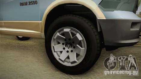 Dodge Ram Technical для GTA San Andreas вид сзади