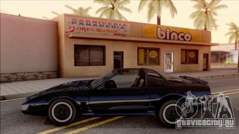 Knight Rider KITT 2000 для GTA San Andreas вид слева