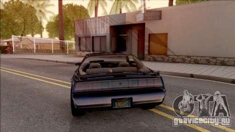 Knight Rider KITT 2000 для GTA San Andreas вид сзади слева