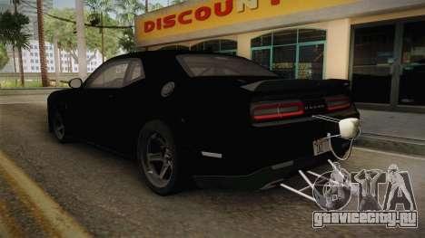 Dodge Challenger 2017 Drag для GTA San Andreas вид слева