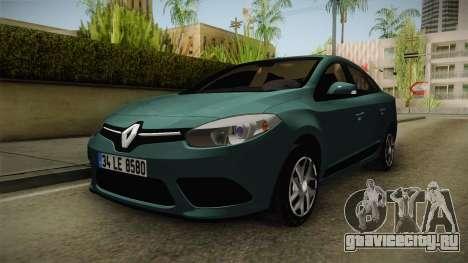 Renault Fluence Joy для GTA San Andreas вид сзади слева