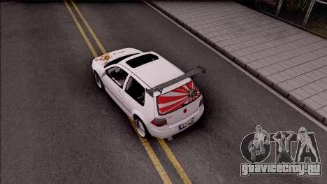 Volkswagen Golf 4 для GTA San Andreas вид сзади
